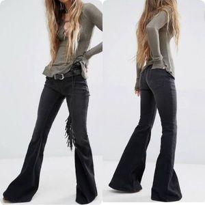 Free People Kick Flare Wide Leg Pull on Jeans